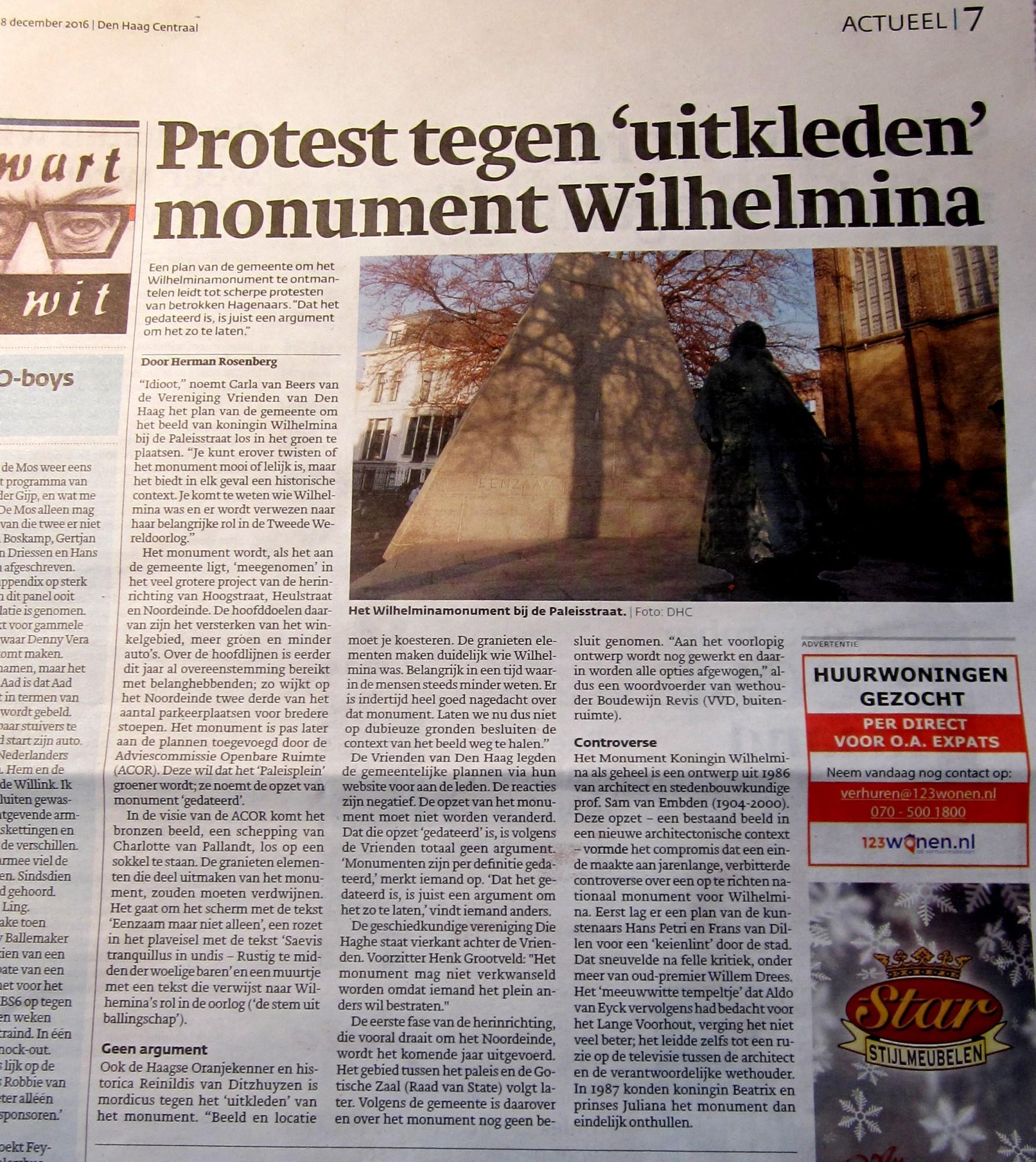 Paleisplein en Wilhelminamonument
